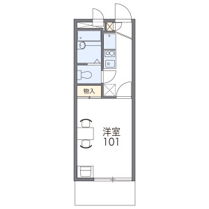 1K Mansion in Abiko - Osaka-shi Sumiyoshi-ku Floorplan