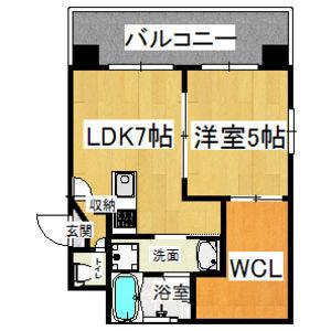 大阪市淀川区十三東-1LDK公寓大厦 楼层布局