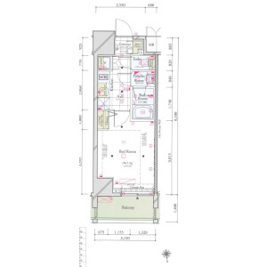 1K {building type} in Hamamatsucho - Minato-ku Floorplan