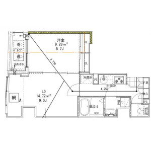 1LDK Mansion in Asakusa - Taito-ku Floorplan