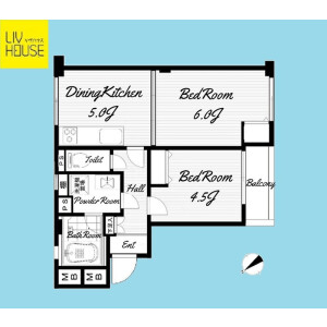 2LDK {building type} in Shimoma - Setagaya-ku Floorplan