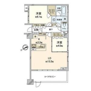 2LDK Mansion in Wakaba - Shinjuku-ku Floorplan