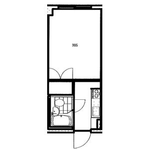 1K Mansion in Kotoni 1-jo - Sapporo-shi Nishi-ku Floorplan