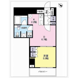 1DK Mansion in Kamiyamacho - Shibuya-ku Floorplan
