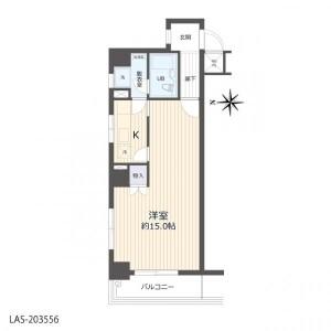名古屋市中区 - 丸の内 公寓 1K 房間格局