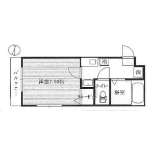 1K Mansion in Nakacho - Saitama-shi Urawa-ku Floorplan