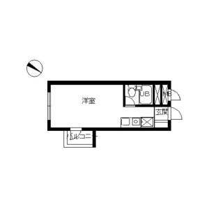 1R Apartment in Chuo - Yokohama-shi Nishi-ku Floorplan