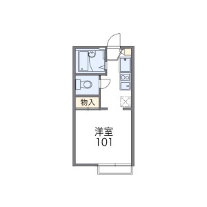 1K Apartment in Nishinoyacho - Yokohama-shi Naka-ku Floorplan