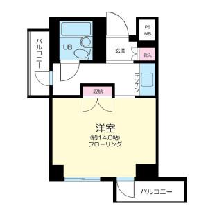 1K Mansion in Minamiaoyama - Minato-ku Floorplan