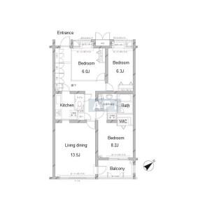 3LDK Apartment in Hachiyamacho - Shibuya-ku Floorplan
