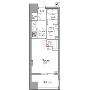 1K Mansion in Nakamarucho - Itabashi-ku Floorplan