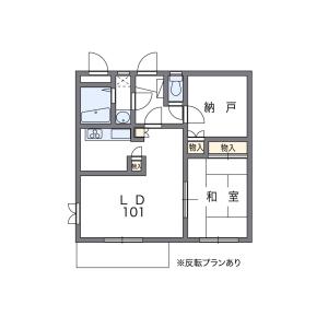 1LDK Mansion in Chitosedai - Setagaya-ku Floorplan