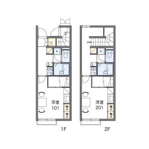 1K Apartment in Kamisue - Kasuya-gun Sue-machi Floorplan