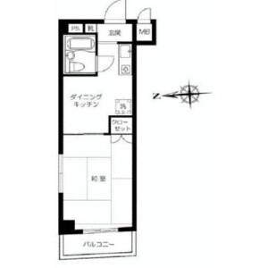 1DK {building type} in Matsugaya - Taito-ku Floorplan
