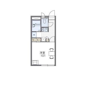 1K Apartment in Kasumigaoka - Fukuoka-shi Higashi-ku Floorplan