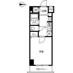 1K Mansion in Chidori - Ota-ku Floorplan