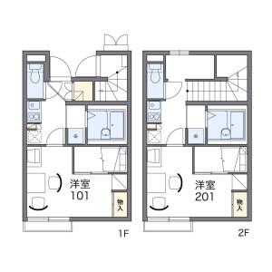1K Apartment in Minamimasuo - Kashiwa-shi Floorplan
