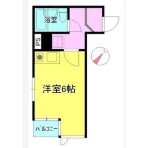 1R Mansion in Kitaueno - Taito-ku Floorplan