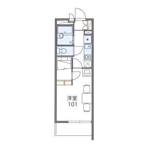 1K Mansion in Higashishimadacho - Okayama-shi Kita-ku Floorplan