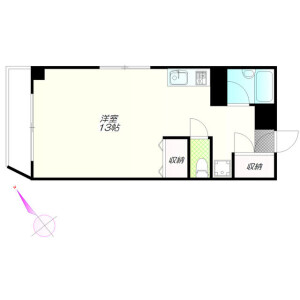 1R Mansion in Yoyogi - Shibuya-ku Floorplan