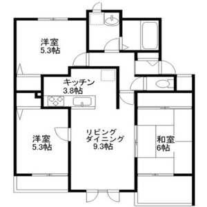 3LDK Apartment in Edanishi - Yokohama-shi Aoba-ku Floorplan