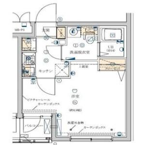 1K Mansion in Honan - Suginami-ku Floorplan