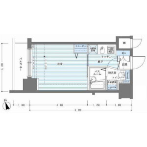 1K Mansion in Minato - Chuo-ku Floorplan