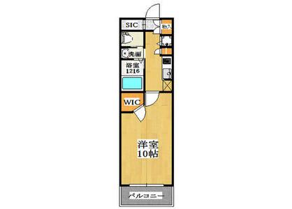 1K Apartment to Rent in Izumisano-shi Floorplan