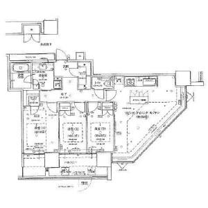 横濱市西區みなとみらい-3LDK公寓 房間格局