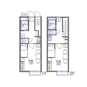 名古屋市千種區月見坂町-1K公寓 房間格局