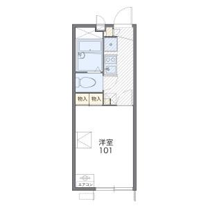 1K Apartment in Okamoto - Setagaya-ku Floorplan