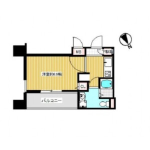1K {building type} in Yamazakicho - Osaka-shi Kita-ku Floorplan