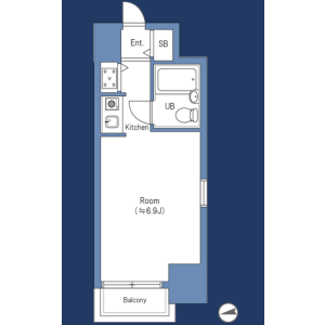 1K {building type} in Ikebukuro (2-4-chome) - Toshima-ku Floorplan