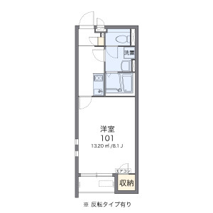 1K Apartment in Ikenomiya - Hirakata-shi Floorplan