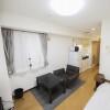 1R マンション 中央区 リビングルーム