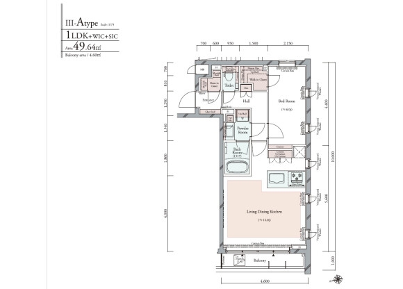 1LDK Apartment to Buy in Shinagawa-ku Floorplan