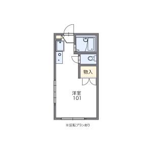 岐阜市西川手-1K公寓 楼层布局