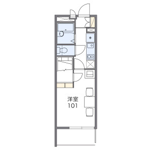 1K Apartment in Miyamaedaira - Kawasaki-shi Miyamae-ku Floorplan