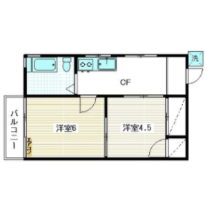 2K Mansion in Nakamagome - Ota-ku Floorplan
