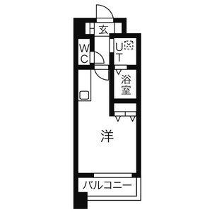 名古屋市西區新道-1R公寓大廈 房間格局