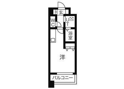 1R Apartment to Rent in Nagoya-shi Nishi-ku Floorplan