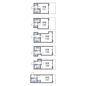1K Apartment in Sanno - Ota-ku Floorplan