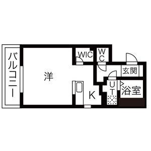 1K Mansion in Tamadenishi - Osaka-shi Nishinari-ku Floorplan