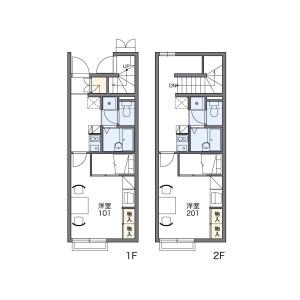 1K Apartment in Matsuo - Gamo-gun Hino-cho Floorplan