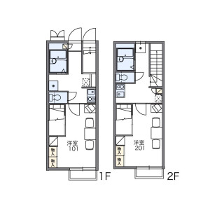 1K Apartment in Tsuruma - Machida-shi Floorplan