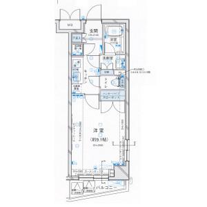 港区芝(4、5丁目)-1K公寓大厦 楼层布局