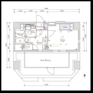 江東區木場-1K公寓大廈 房間格局