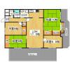 4LDK Apartment to Rent in Nara-shi Floorplan