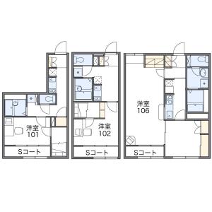 1LDK Apartment in 7-jodori(18-25-chome) - Asahikawa-shi Floorplan