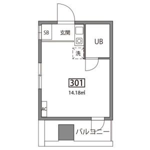 1R Mansion in Hommachi - Shibuya-ku Floorplan